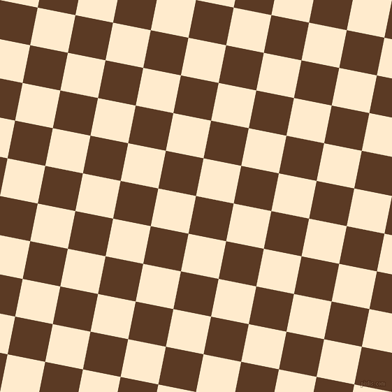 79/169 degree angle diagonal checkered chequered squares checker pattern checkers background, 55 pixel square size, , Carnaby Tan and Blanched Almond checkers chequered checkered squares seamless tileable