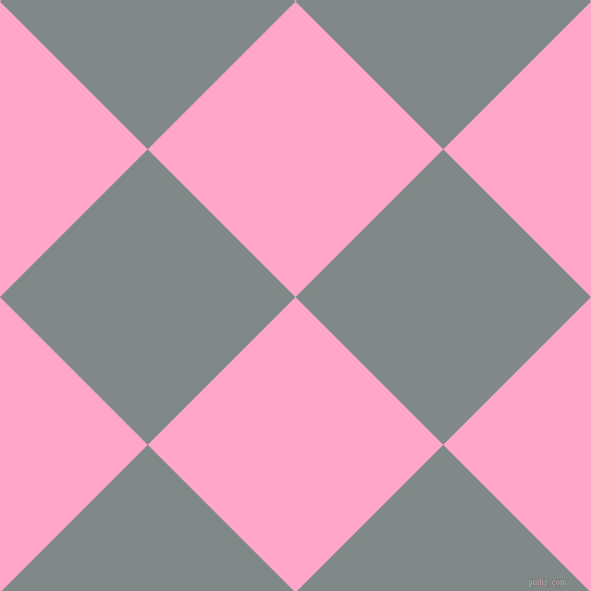 45/135 degree angle diagonal checkered chequered squares checker pattern checkers background, 192 pixel square size, , Carnation Pink and Oslo Grey checkers chequered checkered squares seamless tileable