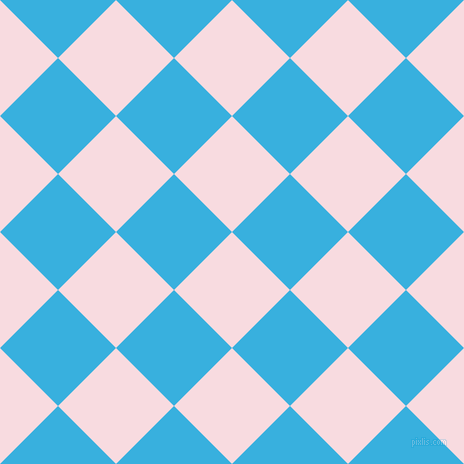 45/135 degree angle diagonal checkered chequered squares checker pattern checkers background, 82 pixel squares size, , Carousel Pink and Summer Sky checkers chequered checkered squares seamless tileable