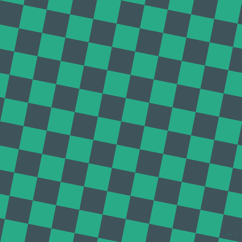79/169 degree angle diagonal checkered chequered squares checker pattern checkers background, 76 pixel squares size, , Casal and Jungle Green checkers chequered checkered squares seamless tileable