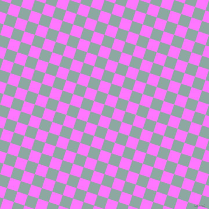 72/162 degree angle diagonal checkered chequered squares checker pattern checkers background, 38 pixel square size, , Cascade and Fuchsia Pink checkers chequered checkered squares seamless tileable