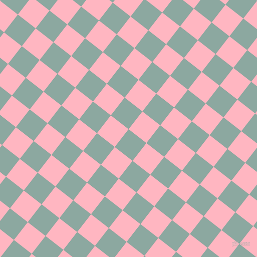 52/142 degree angle diagonal checkered chequered squares checker pattern checkers background, 45 pixel squares size, , Cascade and Light Pink checkers chequered checkered squares seamless tileable