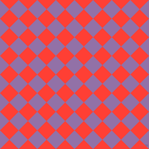 45/135 degree angle diagonal checkered chequered squares checker pattern checkers background, 54 pixel squares size, , Ce Soir and Red Orange checkers chequered checkered squares seamless tileable