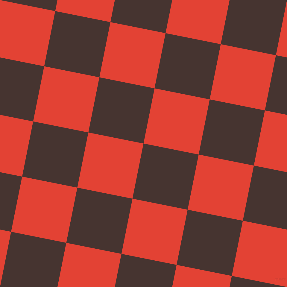 79/169 degree angle diagonal checkered chequered squares checker pattern checkers background, 188 pixel squares size, , Cedar and Cinnabar checkers chequered checkered squares seamless tileable