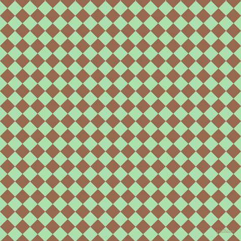 45/135 degree angle diagonal checkered chequered squares checker pattern checkers background, 21 pixel square size, , Celadon and Dark Tan checkers chequered checkered squares seamless tileable