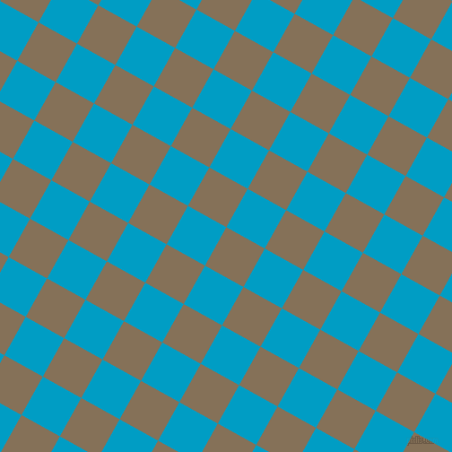 61/151 degree angle diagonal checkered chequered squares checker pattern checkers background, 49 pixel square size, , Cement and Pacific Blue checkers chequered checkered squares seamless tileable