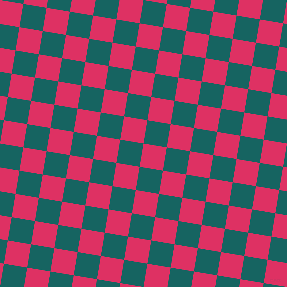 81/171 degree angle diagonal checkered chequered squares checker pattern checkers background, 77 pixel square size, Cerise and Blue Stone checkers chequered checkered squares seamless tileable