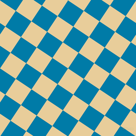 56/146 degree angle diagonal checkered chequered squares checker pattern checkers background, 62 pixel squares size, , Chamois and Cerulean checkers chequered checkered squares seamless tileable