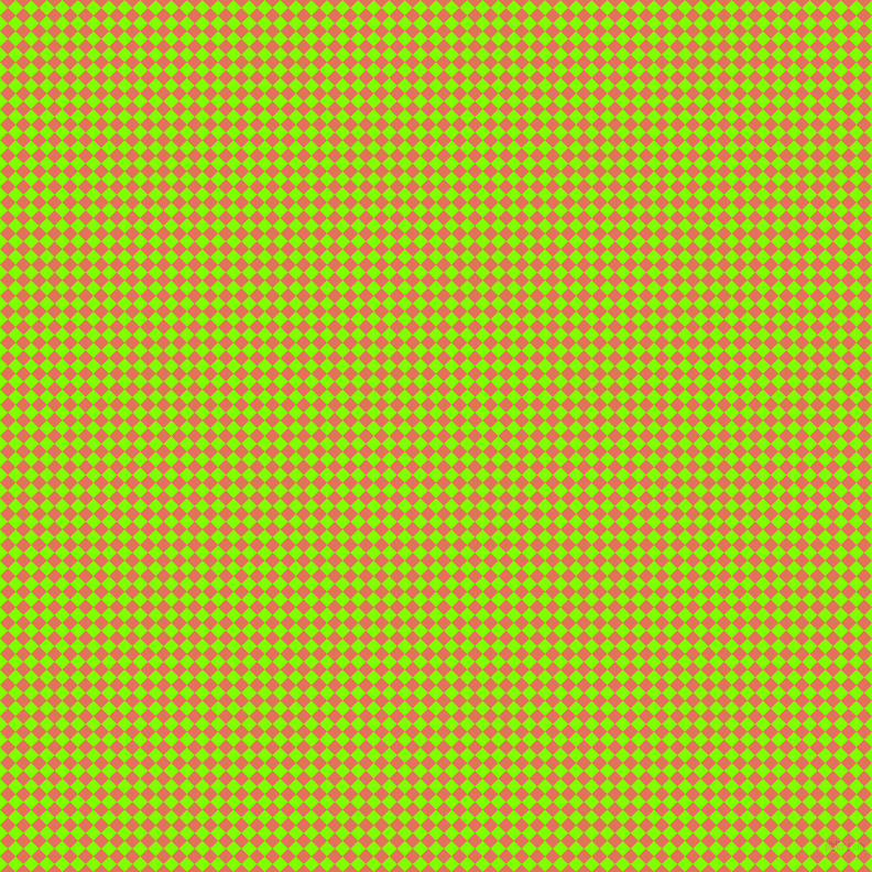 45/135 degree angle diagonal checkered chequered squares checker pattern checkers background, 10 pixel squares size, , Chartreuse and Terra Cotta checkers chequered checkered squares seamless tileable