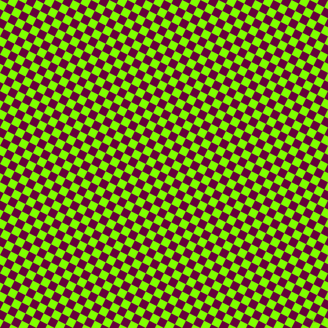 63/153 degree angle diagonal checkered chequered squares checker pattern checkers background, 16 pixel squares size, , Chartreuse and Tyrian Purple checkers chequered checkered squares seamless tileable