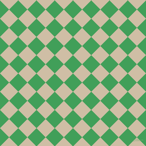 45/135 degree angle diagonal checkered chequered squares checker pattern checkers background, 45 pixel squares size, Chateau Green and Soft Amber checkers chequered checkered squares seamless tileable