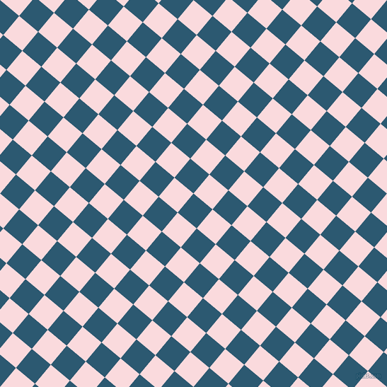 50/140 degree angle diagonal checkered chequered squares checker pattern checkers background, 35 pixel squares size, , Chathams Blue and Pale Pink checkers chequered checkered squares seamless tileable
