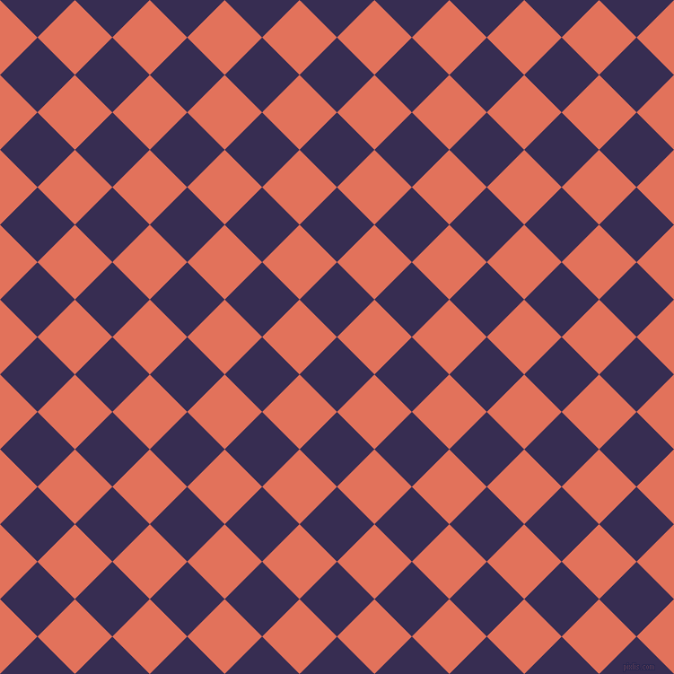 45/135 degree angle diagonal checkered chequered squares checker pattern checkers background, 59 pixel squares size, , Cherry Pie and Terra Cotta checkers chequered checkered squares seamless tileable