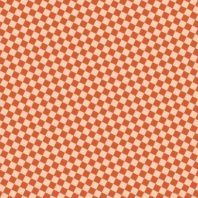 63/153 degree angle diagonal checkered chequered squares checker pattern checkers background, 13 pixel square size, , Chilean Fire and Apricot checkers chequered checkered squares seamless tileable
