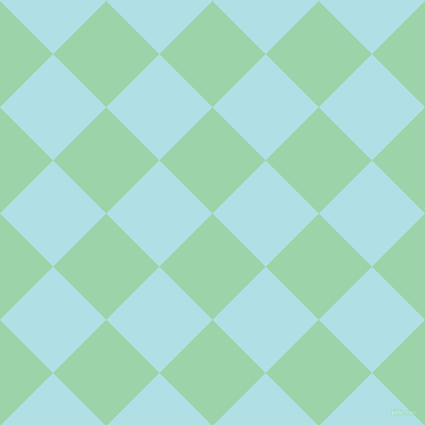 45/135 degree angle diagonal checkered chequered squares checker pattern checkers background, 107 pixel square size, , Chinook and Powder Blue checkers chequered checkered squares seamless tileable