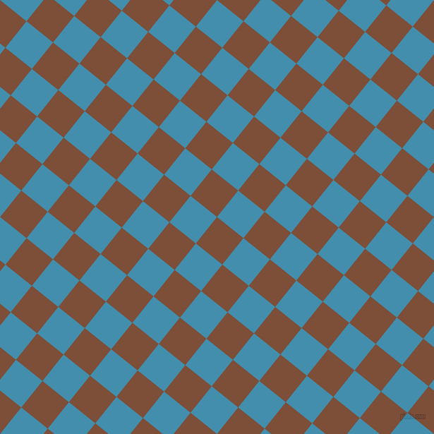 51/141 degree angle diagonal checkered chequered squares checker pattern checkers background, 48 pixel square size, , Cigar and Boston Blue checkers chequered checkered squares seamless tileable