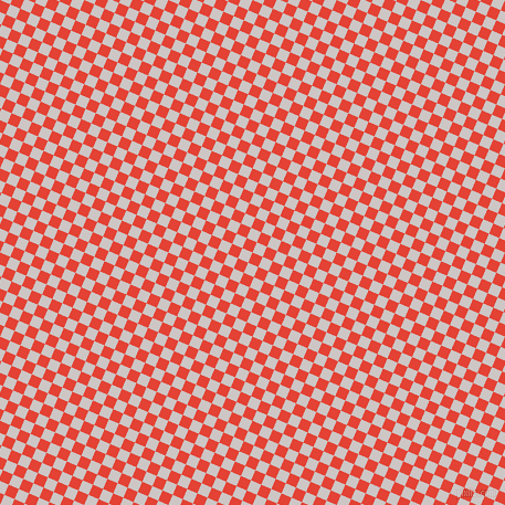 67/157 degree angle diagonal checkered chequered squares checker pattern checkers background, 10 pixel squares size, , Cinnabar and Alto checkers chequered checkered squares seamless tileable
