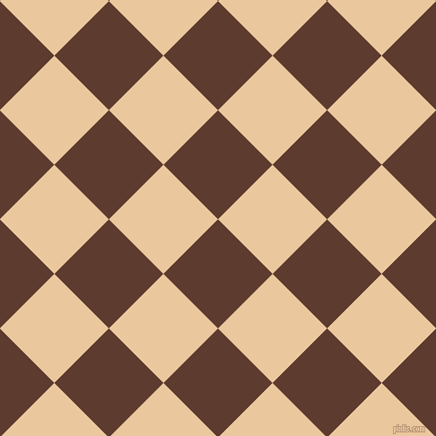 45/135 degree angle diagonal checkered chequered squares checker pattern checkers background, 86 pixel squares size, , Cioccolato and New Tan checkers chequered checkered squares seamless tileable