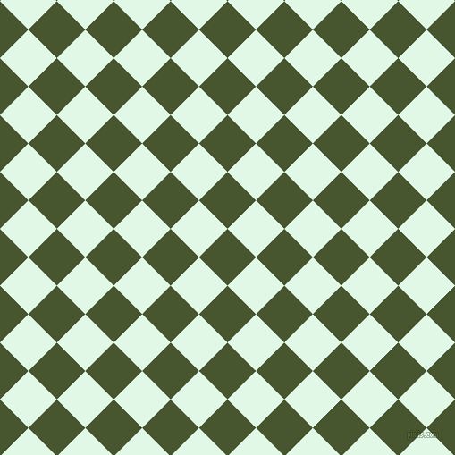 45/135 degree angle diagonal checkered chequered squares checker pattern checkers background, 45 pixel squares size, , Clover and Cosmic Latte checkers chequered checkered squares seamless tileable