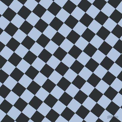 52/142 degree angle diagonal checkered chequered squares checker pattern checkers background, 36 pixel square size, , Cod Grey and Light Steel Blue checkers chequered checkered squares seamless tileable