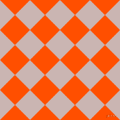 45/135 degree angle diagonal checkered chequered squares checker pattern checkers background, 73 pixel squares size, , Cold Turkey and International Orange checkers chequered checkered squares seamless tileable