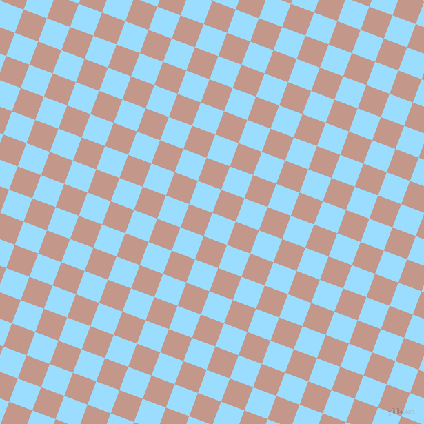 69/159 degree angle diagonal checkered chequered squares checker pattern checkers background, 36 pixel squares size, , Columbia Blue and Quicksand checkers chequered checkered squares seamless tileable