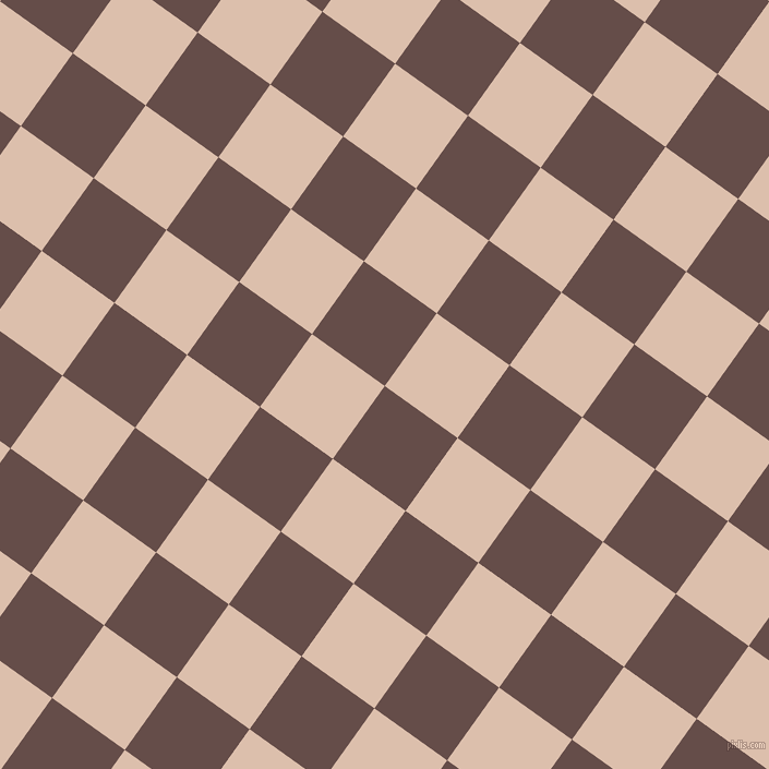 54/144 degree angle diagonal checkered chequered squares checker pattern checkers background, 82 pixel square size, , Congo Brown and Just Right checkers chequered checkered squares seamless tileable