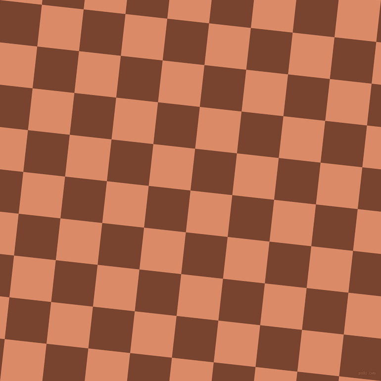 84/174 degree angle diagonal checkered chequered squares checker pattern checkers background, 85 pixel square size, , Copper and Cumin checkers chequered checkered squares seamless tileable