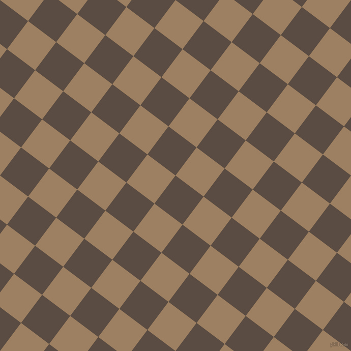 53/143 degree angle diagonal checkered chequered squares checker pattern checkers background, 69 pixel squares size, , Cork and Sorrell Brown checkers chequered checkered squares seamless tileable