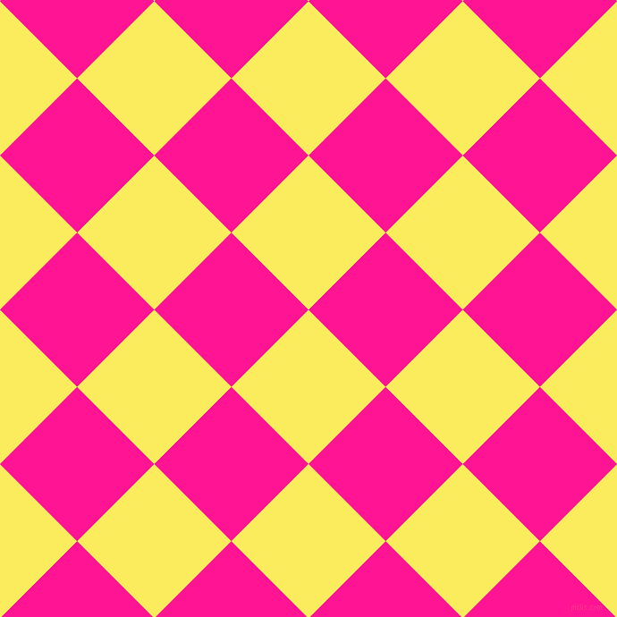 45/135 degree angle diagonal checkered chequered squares checker pattern checkers background, 122 pixel square size, , Corn and Deep Pink checkers chequered checkered squares seamless tileable