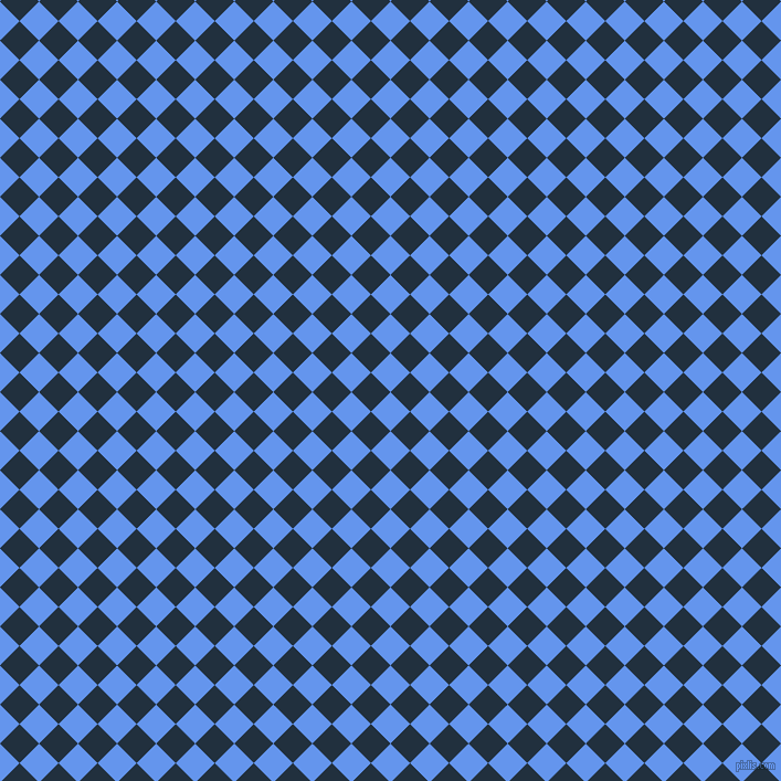 45/135 degree angle diagonal checkered chequered squares checker pattern checkers background, 25 pixel square size, , Cornflower Blue and Midnight checkers chequered checkered squares seamless tileable