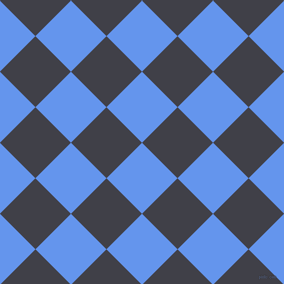 45/135 degree angle diagonal checkered chequered squares checker pattern checkers background, 101 pixel squares size, , Cornflower Blue and Payne