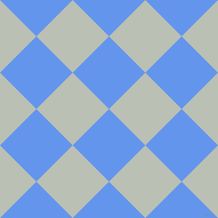 45/135 degree angle diagonal checkered chequered squares checker pattern checkers background, 172 pixel squares size, , Cornflower Blue and Tasman checkers chequered checkered squares seamless tileable