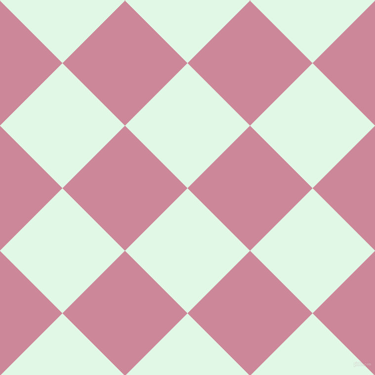 45/135 degree angle diagonal checkered chequered squares checker pattern checkers background, 179 pixel squares size, Cosmic Latte and Puce checkers chequered checkered squares seamless tileable