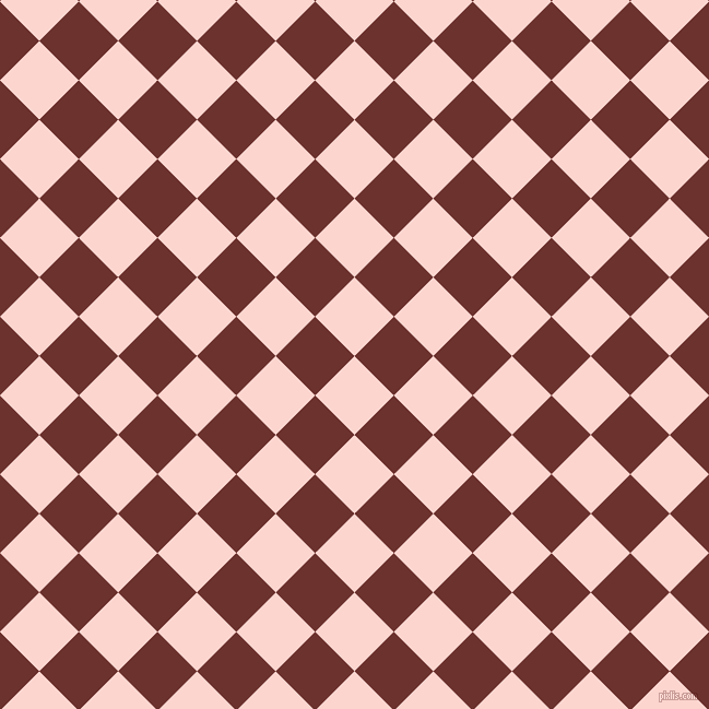 45/135 degree angle diagonal checkered chequered squares checker pattern checkers background, 51 pixel squares size, , Cosmos and Kenyan Copper checkers chequered checkered squares seamless tileable