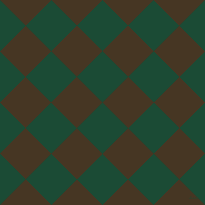 45/135 degree angle diagonal checkered chequered squares checker pattern checkers background, 126 pixel square size, County Green and Clinker checkers chequered checkered squares seamless tileable