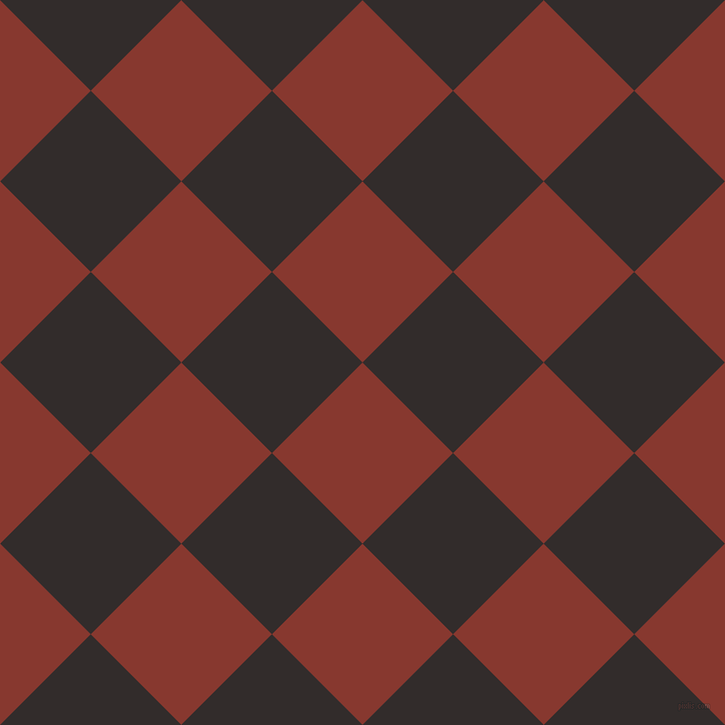 Pale Pink and Biloba Flower checkers chequered checkered ...