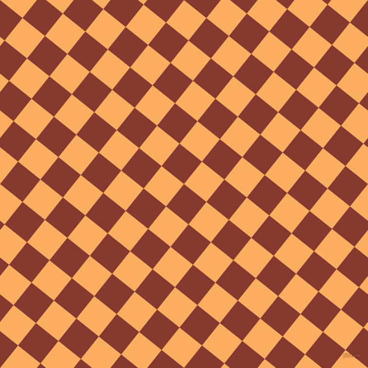 51/141 degree angle diagonal checkered chequered squares checker pattern checkers background, 59 pixel squares size, , Crab Apple and Rajah checkers chequered checkered squares seamless tileable