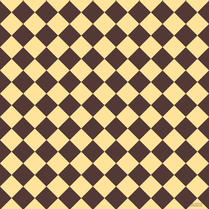 45/135 degree angle diagonal checkered chequered squares checker pattern checkers background, 33 pixel square size, , Cream Brulee and Van Cleef checkers chequered checkered squares seamless tileable