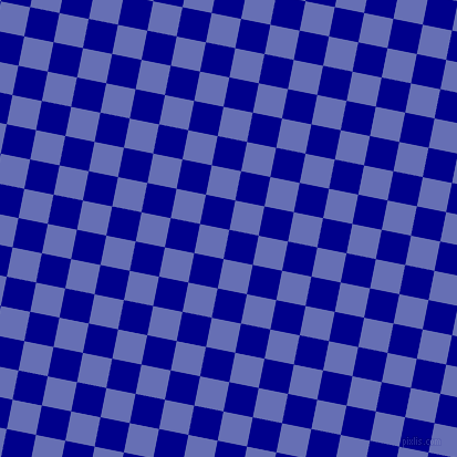 79/169 degree angle diagonal checkered chequered squares checker pattern checkers background, 27 pixel squares size, , Dark Blue and Chetwode Blue checkers chequered checkered squares seamless tileable