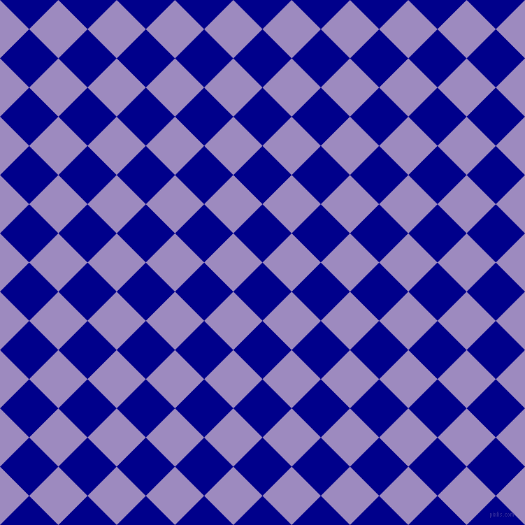 45/135 degree angle diagonal checkered chequered squares checker pattern checkers background, 59 pixel square size, , Dark Blue and Cold Purple checkers chequered checkered squares seamless tileable