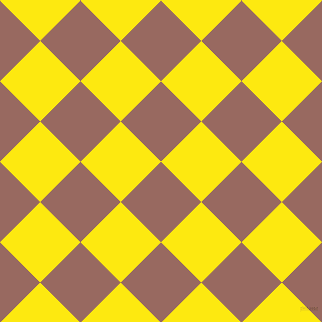 45/135 degree angle diagonal checkered chequered squares checker pattern checkers background, 113 pixel square size, , Dark Chestnut and Lemon checkers chequered checkered squares seamless tileable