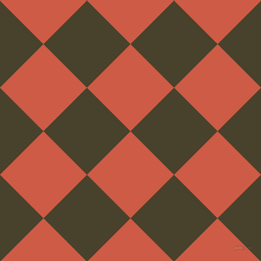 45/135 degree angle diagonal checkered chequered squares checker pattern checkers background, 125 pixel square size, , Dark Coral and Onion checkers chequered checkered squares seamless tileable