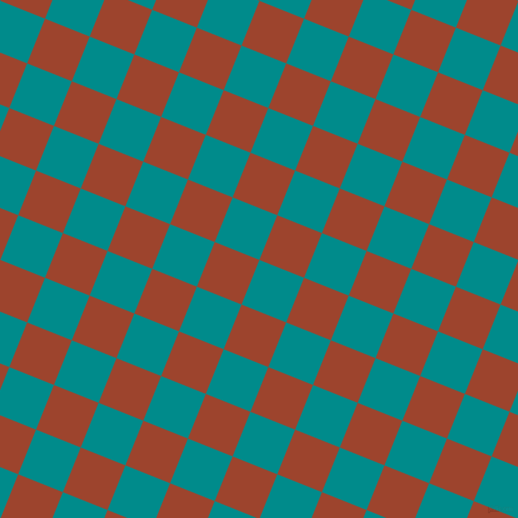 68/158 degree angle diagonal checkered chequered squares checker pattern checkers background, 69 pixel squares size, , Dark Cyan and Rock Spray checkers chequered checkered squares seamless tileable