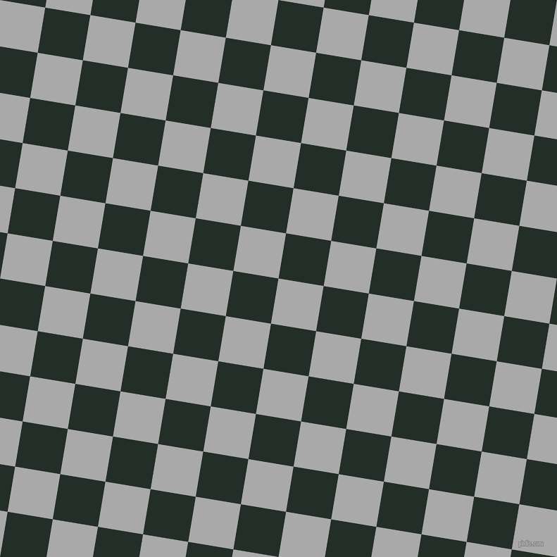 81/171 degree angle diagonal checkered chequered squares checker pattern checkers background, 65 pixel square size, , Dark Gray and Midnight Moss checkers chequered checkered squares seamless tileable