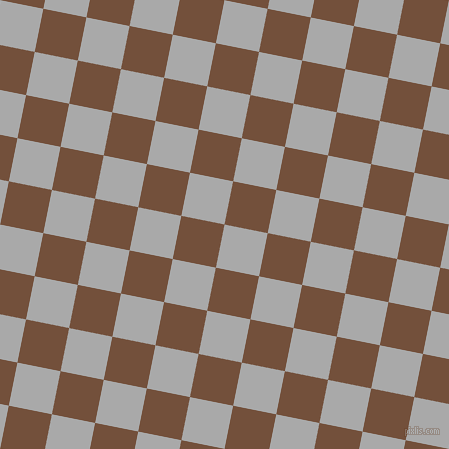79/169 degree angle diagonal checkered chequered squares checker pattern checkers background, 44 pixel squares size, , Dark Gray and Old Copper checkers chequered checkered squares seamless tileable