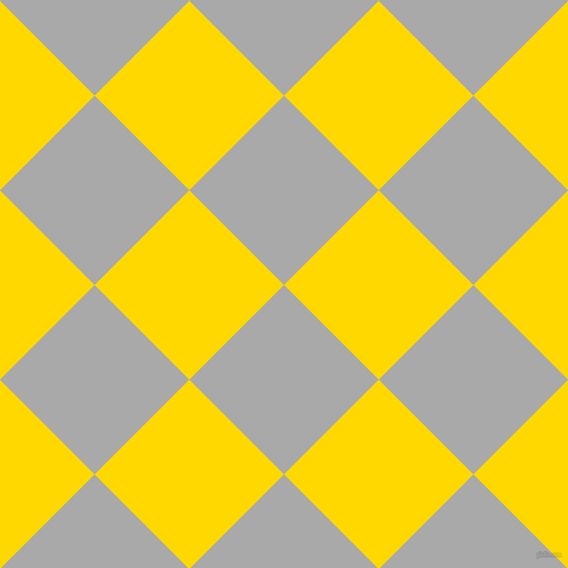 45/135 degree angle diagonal checkered chequered squares checker pattern checkers background, 191 pixel squares size, , Dark Gray and School Bus Yellow checkers chequered checkered squares seamless tileable