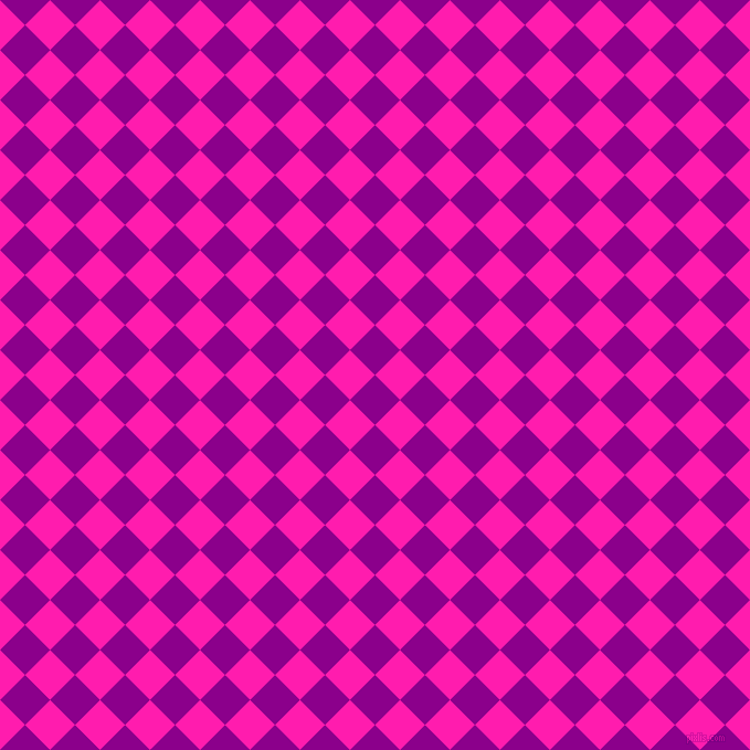 45/135 degree angle diagonal checkered chequered squares checker pattern checkers background, 32 pixel squares size, , Dark Magenta and Spicy Pink checkers chequered checkered squares seamless tileable
