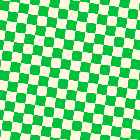 82/172 degree angle diagonal checkered chequered squares checker pattern checkers background, 34 pixel squares size, , Dark Pastel Green and Corn Silk checkers chequered checkered squares seamless tileable