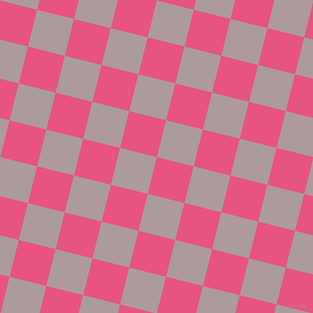 76/166 degree angle diagonal checkered chequered squares checker pattern checkers background, 78 pixel square size, , Dark Pink and Dusty Grey checkers chequered checkered squares seamless tileable